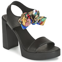 Chaussures Femme Sandales et Nu-pieds Love Moschino I LOVE FOULARD Noir