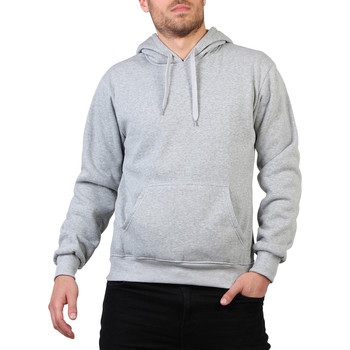 Vêtements Homme Sweats Krisp Homme Sweatshirt Pull Over A Capuche Poche Sport Couleur Gris
