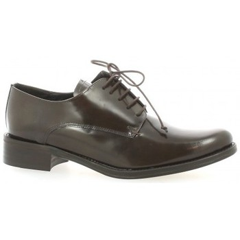 Chaussures Femme Derbies Elizabeth Stuart Derby cuir glacé Marron