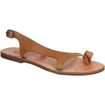 Chaussures Homme Sandales et Nu-pieds Gianluca - L'artigiano Del Cuoio 526 D CUOIO GOMMA Cuoio