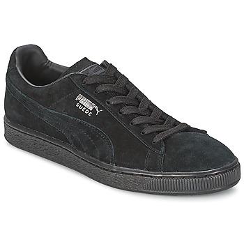 Chaussures Baskets basses Puma SUEDE CLASSIC Noir / Gris