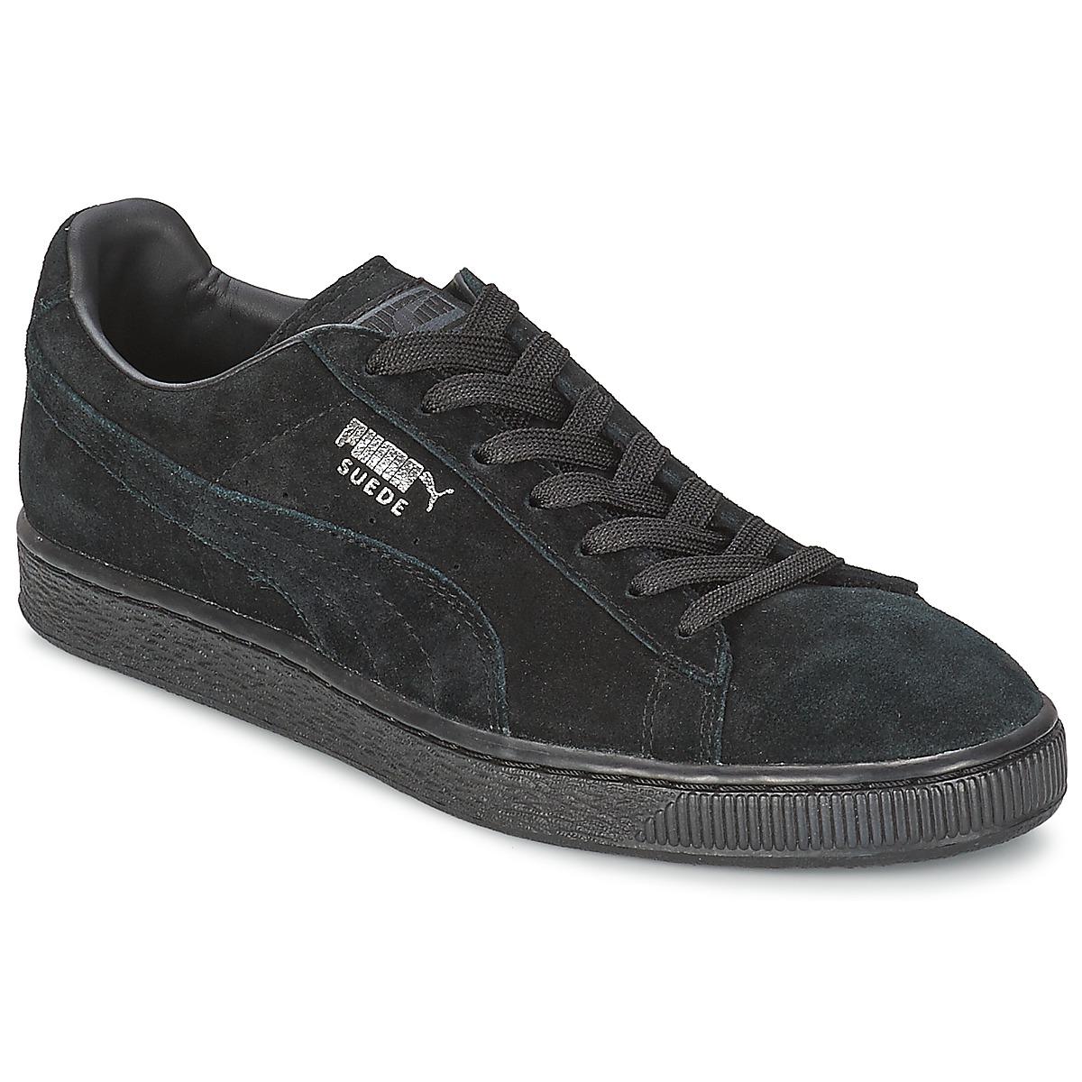 puma suede classic noir gris livraison gratuite avec chaussures baskets. Black Bedroom Furniture Sets. Home Design Ideas