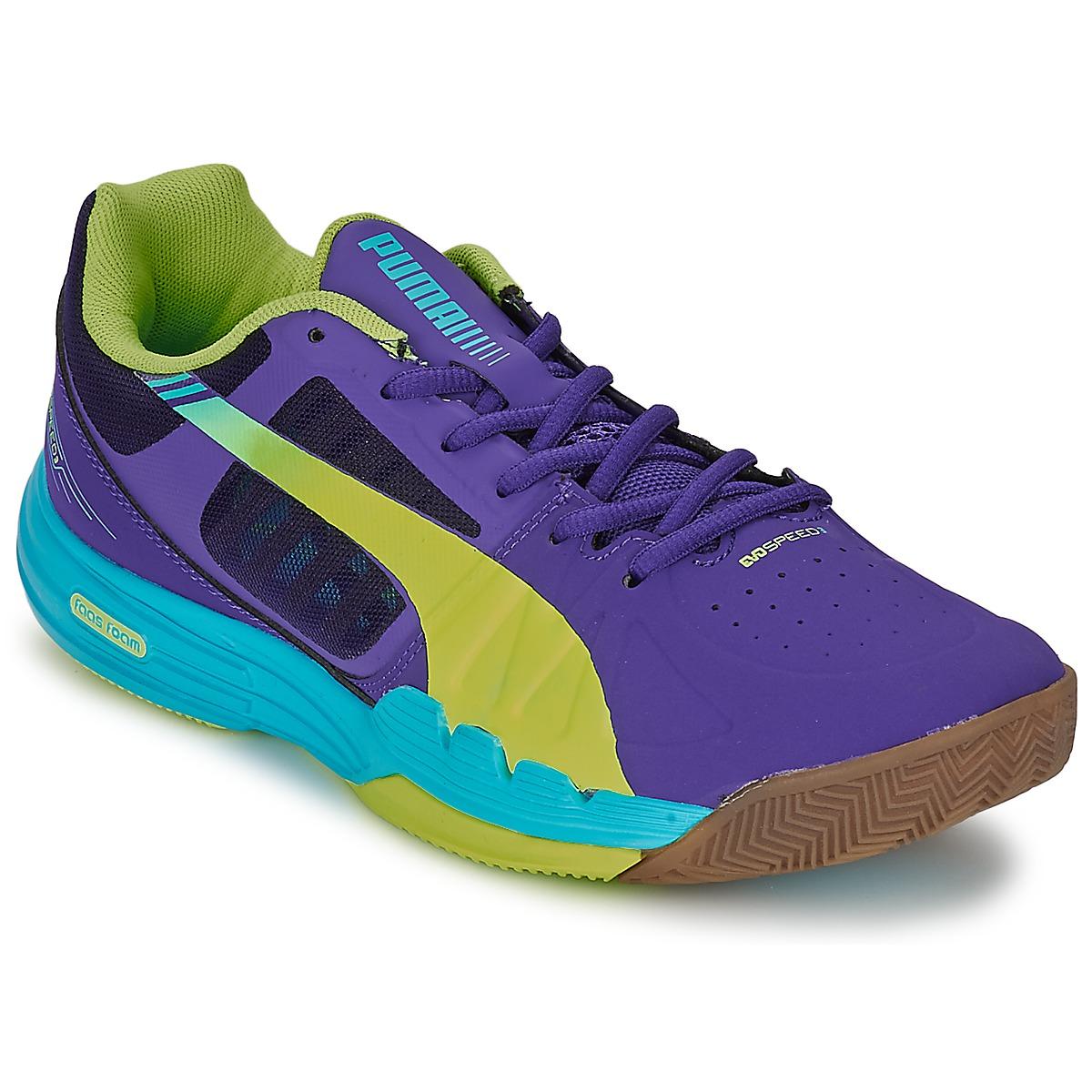 Chaussures-de-sport Puma EVOSPEED INDOOR 3.3 Violet / Jaune / Bleu
