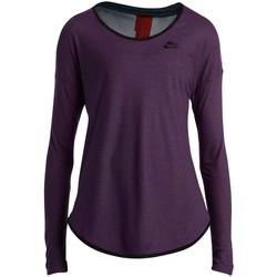 Vêtements Femme T-shirts manches longues Nike Tee-shirt  LS Violet