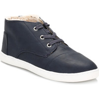 Baskets montantes Toms Youth Blue Paseo Mid Faux Shearling Trainers