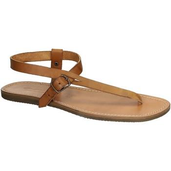 Chaussures Femme Sandales et Nu-pieds Gianluca - L'artigiano Del Cuoio 592 U CUOIO GOMMA Cuoio