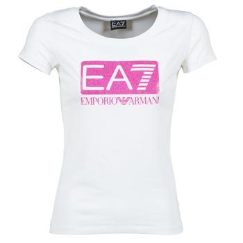 Vêtements Femme T-shirts manches courtes Emporio Armani EA7 BEAKON Blanc
