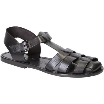 Chaussures Femme Sandales et Nu-pieds Gianluca - L'artigiano Del Cuoio 501 D NERO CUOIO nero
