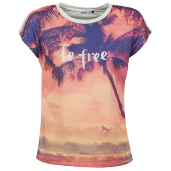 Vêtements Femme T-shirts manches courtes Only BE FREE SUMMER Multicolore