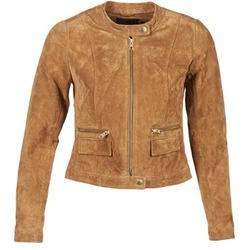 Vêtements Femme Vestes en cuir / synthétiques Only PAIGE Cognac