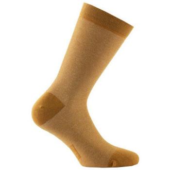 Accessoires Femme Chaussettes Achile Mi-chaussettes rayures Lurex en coton Bronze