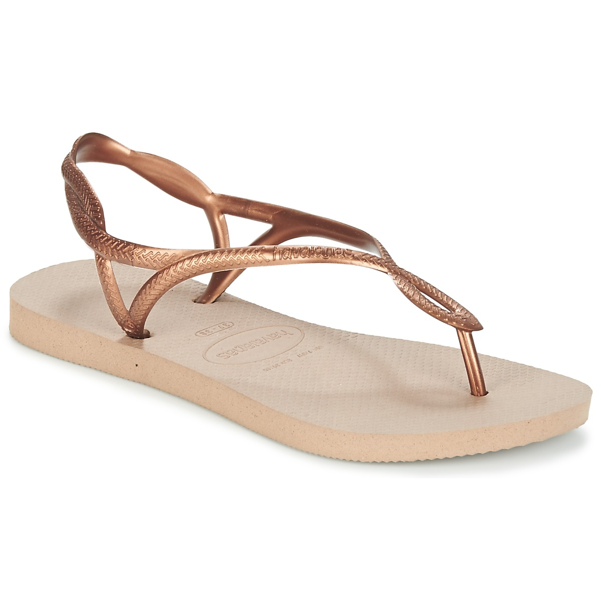 havaianas luna bronze livraison gratuite avec chaussures tongs femme 22 99. Black Bedroom Furniture Sets. Home Design Ideas