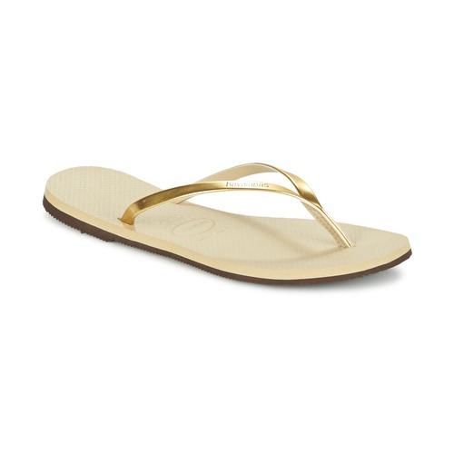 Chaussures Femme Tongs Havaianas YOU METALLIC Doré