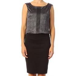 Vêtements Femme Robes courtes Vero Moda Tuba SL Above Knee Dress 10115644 Argent Gris