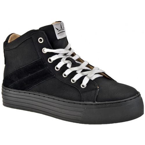 Chaussures Femme Baskets montantes F. Milano Mi Plateforme Casual Baskets montantes Noir