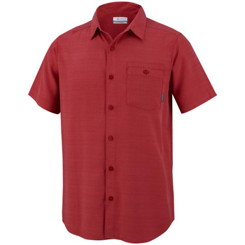 Vêtements Homme Chemises manches courtes Columbia Mossy Trail Short Sleeve Shirt Rouge