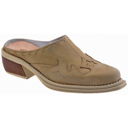 Chaussures Enfant Sabots La Romagnoli CuirvéritableSemelleintérieureSabot Beige