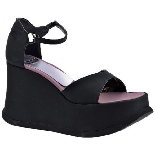 Chaussures Femme Sandales et Nu-pieds Planisphere 90Plate-formeWedgeSandales Noir