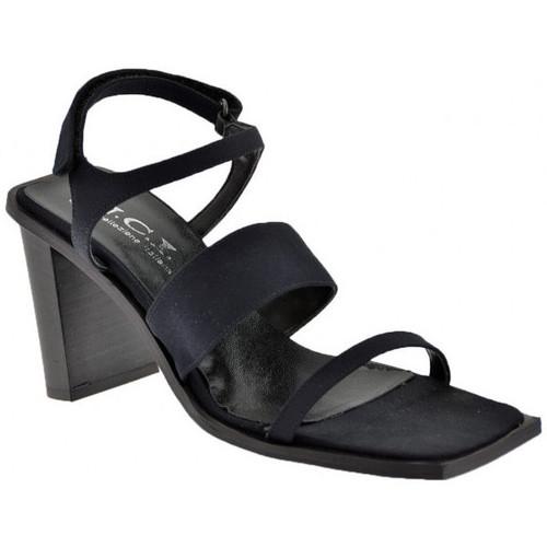 Chaussures Femme Sandales et Nu-pieds Nci 3sanglesvelcrotalon80Sandales Noir