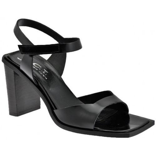 Chaussures Femme Sandales et Nu-pieds Nci Velcro Talon 85 Sandales Noir