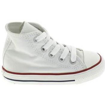 Chaussures Enfant Chaussons bébés Converse All Star Hi BB Blanc Blanc