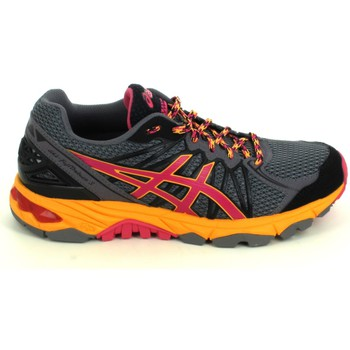 Chaussures Femme Running / trail Asics Gel Fujitrabuco 3 F Gris Rose Gris