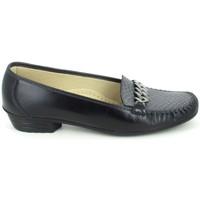 Chaussures Femme Mocassins Boissy Binome Noir Gris Noir