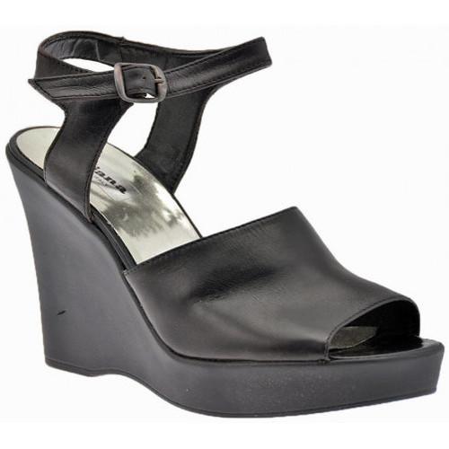 Chaussures Femme Sandales et Nu-pieds No End Wedge80Sandales Noir