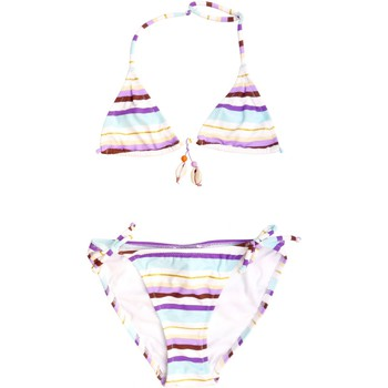 Vêtements Fille Maillots de bain 2 pièces Princesse Ilou Maillot de bain 2 pièces rayé violet et or Violet