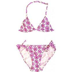 Vêtements Fille Maillots de bain 2 pièces Princesse Ilou Maillot de bain fille 2 pièces violet à fleurs dorées Violet