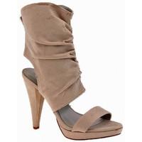 Chaussures Femme Sandales et Nu-pieds Chedivé Talon Veau 110 Dive & Co. Sandales Beige