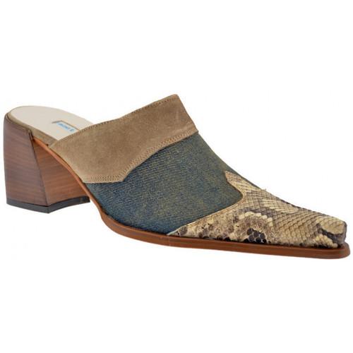 Chaussures Femme Sabots Janet&Janet Sabo Texan talon 60 Sabot