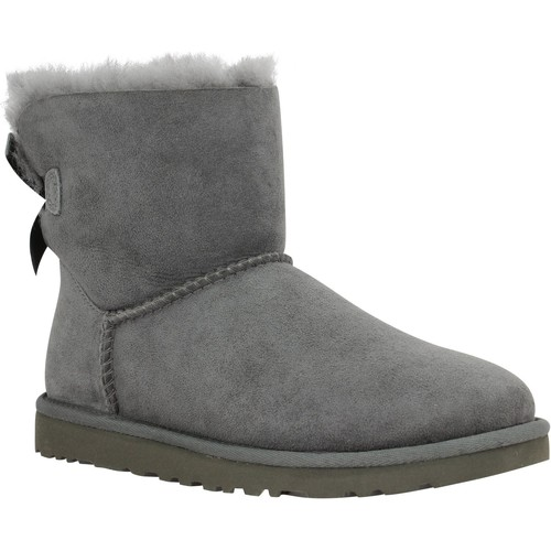 Chaussures Femme Boots UGG Mini Bailey Bow velours Femme Gris Gris