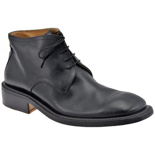 Chaussures Homme Richelieu Lancio DoubleClassiqueCasualFondslargeRichelieu Noir