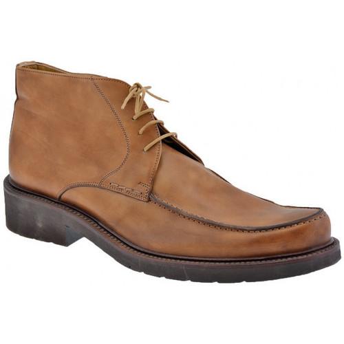 Chaussures Homme Derbies Lancio Punta Parade Tex Casual montantes Marron