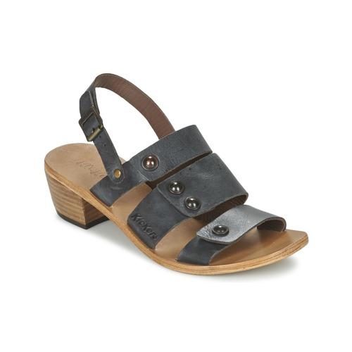 Chaussures Femme Sandales et Nu-pieds Kickers KHÔOL Noir