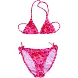 Vêtements Fille Maillots de bain 2 pièces Princesse Ilou Maillot de bain fille 2 pièces rose et rouge camouflage Rose