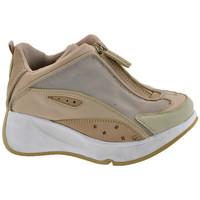 Chaussures Enfant Baskets montantes Fornarina New Zip Talon compensé Beige