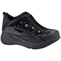 Chaussures Enfant Baskets montantes Fornarina Borchie Zip Talon compensé Noir