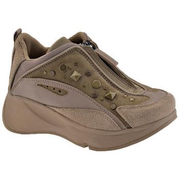 Chaussures Enfant Baskets montantes Fornarina Borchie Zip Talon compensé Beige