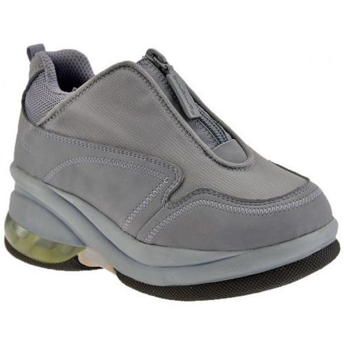 Chaussures Enfant Baskets montantes Fornarina Zip Up Jr Talon compensé Gris