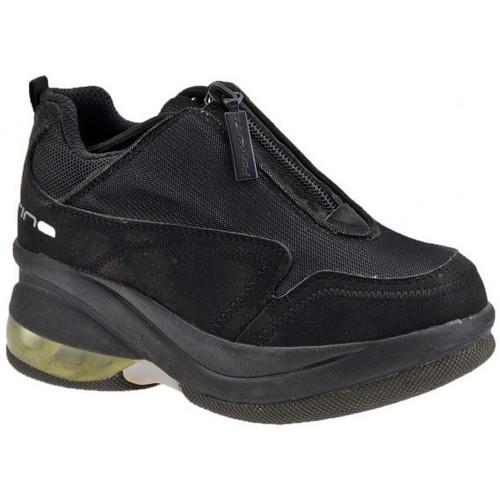 Chaussures Enfant Baskets montantes Fornarina ZipUpJrTaloncompenséTaloncompensé Talon compensé Noir