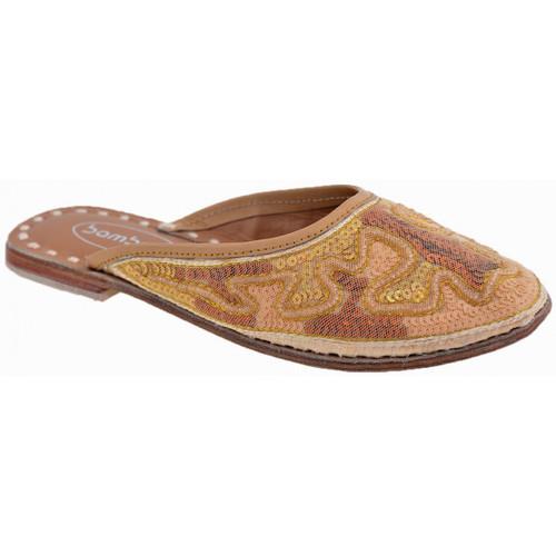 Chaussures Enfant Sabots Bamboo Ethnique Sabot Doré