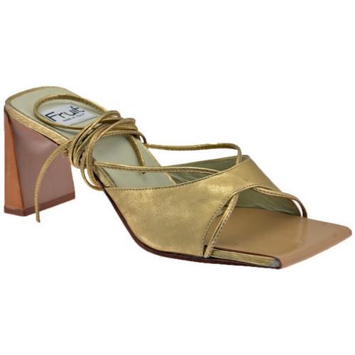 Chaussures Femme Mules Fru.it Talon esclave 80 Mules Doré