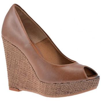 Chaussures Femme Baskets montantes Nobrand Decoltè Talon compensé Marron