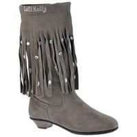Chaussures Enfant Bottes ville Lelli Kelly FrangesBottes Gris