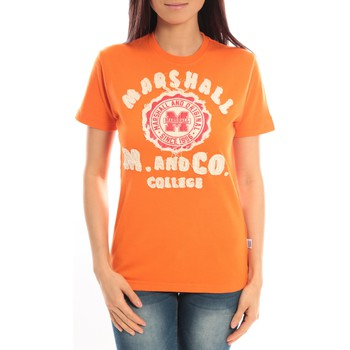 Vêtements Femme T-shirts manches courtes Sweet Company T-shirt Marshall Original M and Co 2346 Orange Orange