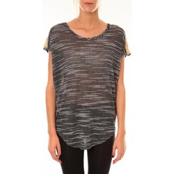 T-shirts manches courtes Dress Code Top à sequins R5523 anthracite