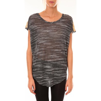 Vêtements Femme T-shirts manches courtes Dress Code Top à sequins R5523 anthracite Gris