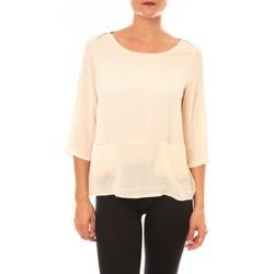 Vêtements Femme T-shirts manches longues Carla Conti Top K598 écru Beige